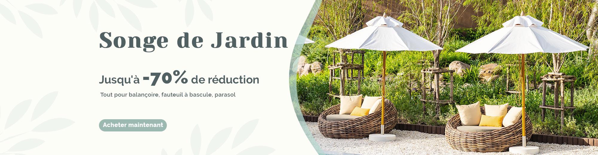 Redonnez une jeunesse à votre jardin avec la super remise! Découvrez notre offre spéciale jardin et profitez d'une livraison gratuite sur tout le site costway.fr!