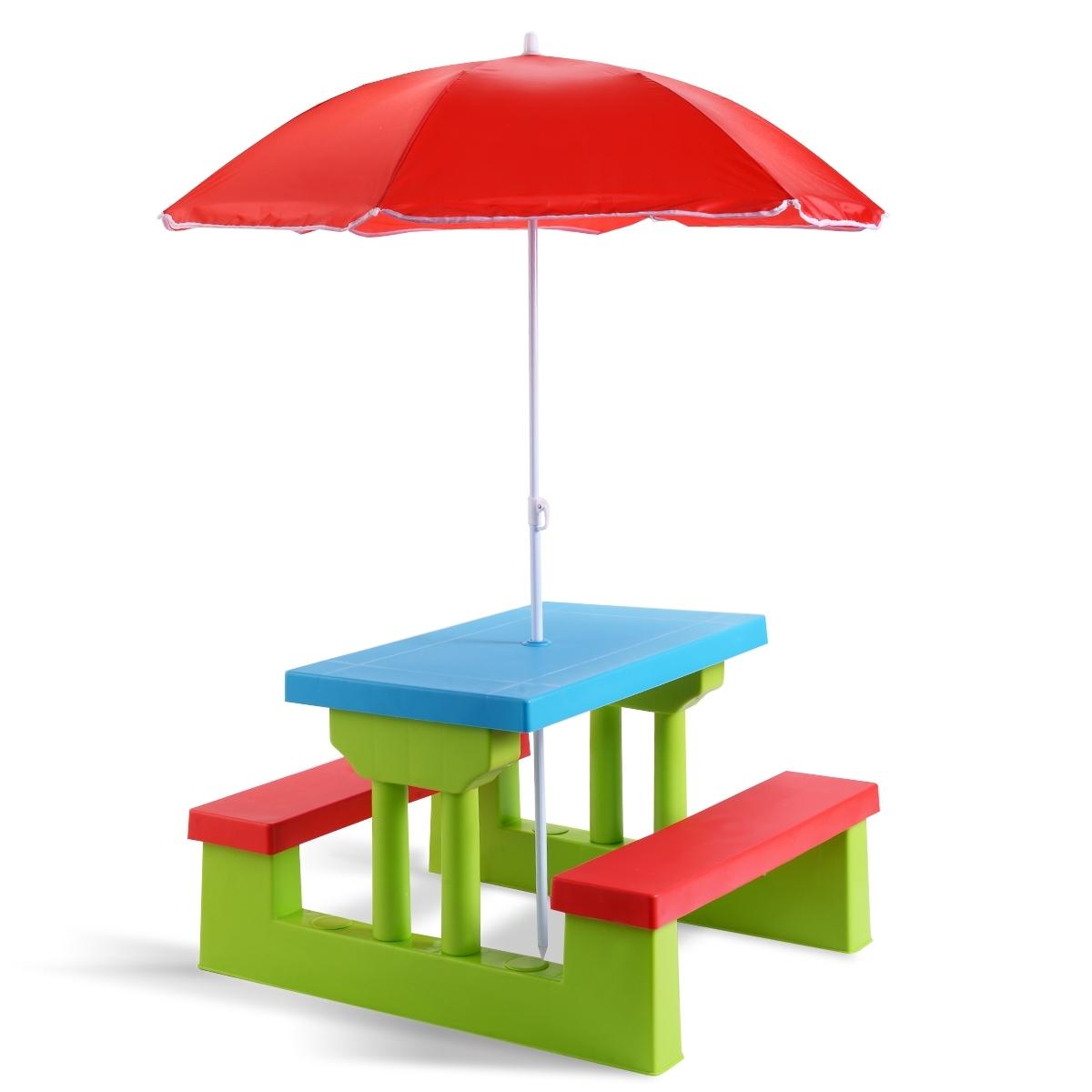 Costway Table Pique Nique Enfant Ensemble Table Et Banc Enfant Table