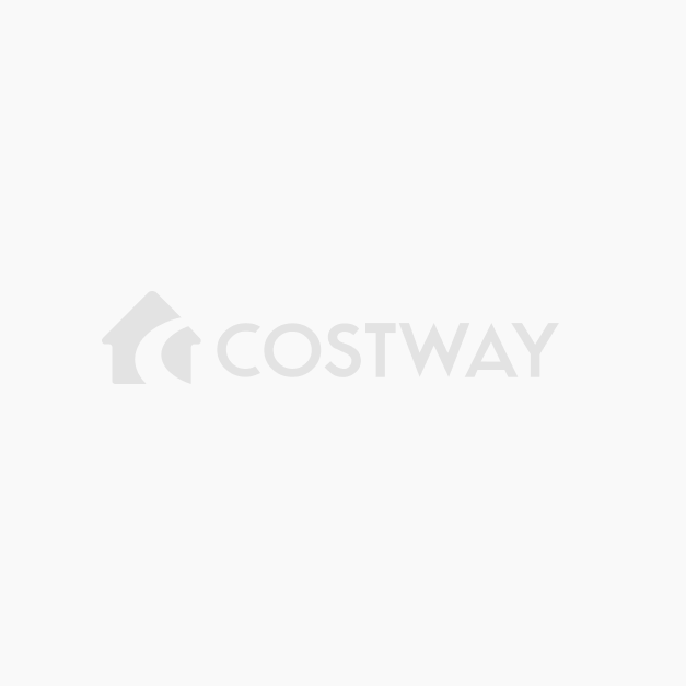 Costway Table de Jardin en Rotin Pliante Structure en Fer Table ...