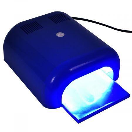 Costway LED UV Nail Lampe Séchoir à Ongles 36W avec 4 tubes UV Nail Lampes de 3 minuteries Rapidement à Sec lumière UV Gel Polish Sèche