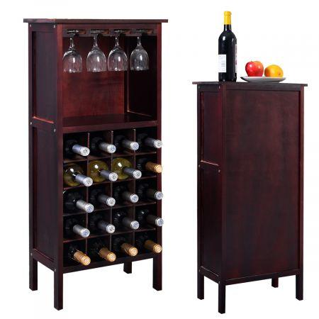 Étagère à vin support range bouteille Casier à vin en bois porte-bouteille 20 bouteilles