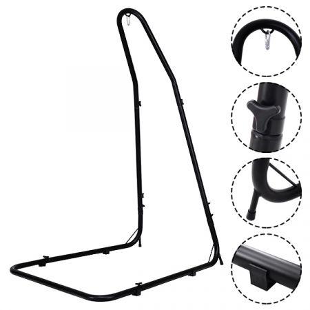 Costway Support Hamac Stable Support pour fauteuil Suspendu Hauteur ajustable en Acier de Haute Qualité Noir