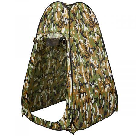 COSTWAY Tente de Toilette Tente de douche portable 120 x 120 x 190 cm Camping Douche Portable pour Camping Randonnée de Bain Douche Camouflage