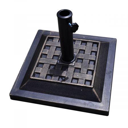 Base/Pied de ParasolSupport pour parasol ou parapluie Convient pour Diamètre de 38mm ou 48mmSupport pour Parasol Bronze Carré