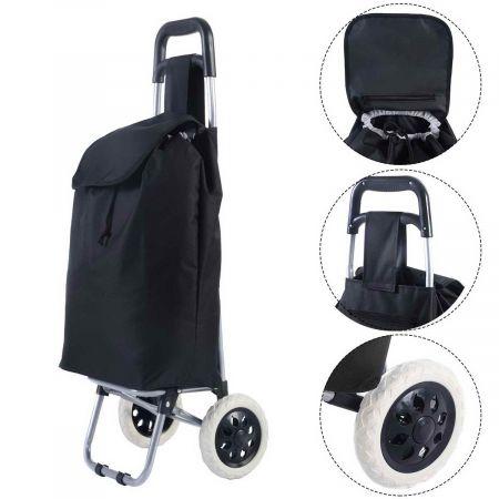 Valise de bagage pliant Pliage Caddie Panier Sac à roulettes roulant utilitaire