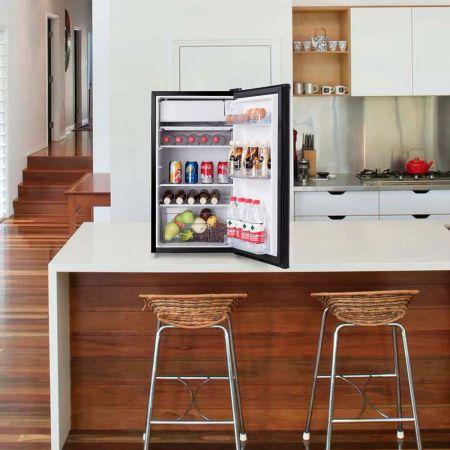 Costway Réfrigérateur Table Top Intégrable 91 L Mini-Bar Réfrigérateur 48,5x44,5x83,5cm Noir