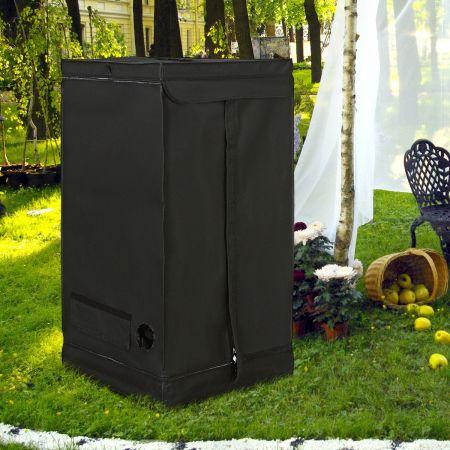 Tente Hydroponique Chambre de Culture Pousse Culture Hydroponique 210D Tissu Oxford 60 x 60 x 120 cm Noir
