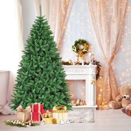 Costway Arbre de Noël Artificiel 225cm à Charnière avec Support Métallique 2254 Branches