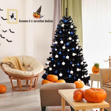 Costway Sapin de Noël Artificiel 180cm Aiguilles en PVC avec Support en Métal Pliable 1036 Pointes de Branche