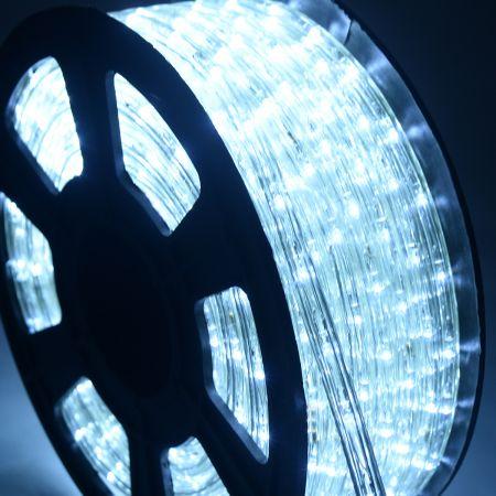 Costway Tuyau Lumineux LED couleurs & longeurs Éligible Tube de lumière Décoration 10 M  LED 36 Pièces par Mètre Blanc