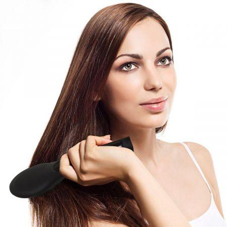 Costway Brosse Lissante Chauffante Brosse à Cheveux Electrique Lisseur avec LCD Ecran