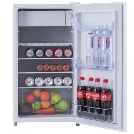 Costway Frigo Combiné Mini Réfrigérateur 91 Liters Mini-frigo Classe Energétique F Economies d'Energie 49 x 45 x 84 cm Blanc