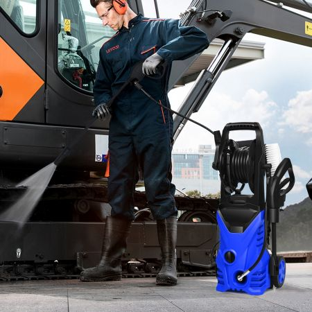 Costway Nettoyeur Haute Pression 1400W 140Bar 300L/H avec 1 Buse Lotus et 1 Buse Haute Pression Bleu
