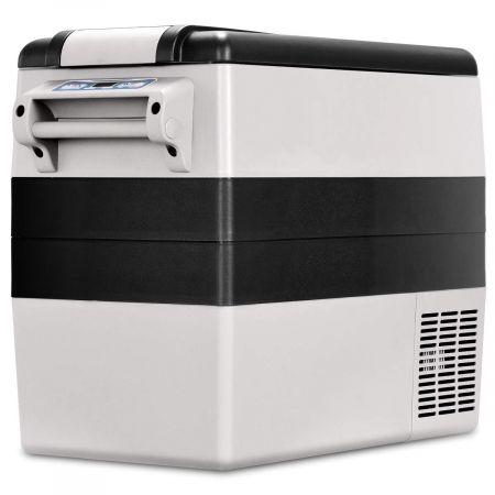 Costway Réfrigérateur de Voiture -20℃~+10℃ 52L Noir Gris Mini Réfrigérateur Portable 110V-240V avec Ecran LCD