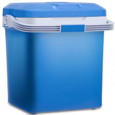 Costway Glacière Electrique Mini Réfrigérateur de Voiture Chaud/Froid 26 Litres Couleur Bleu