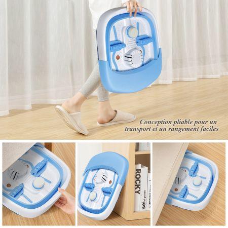 Costway Thalasso Pied Pliable avec Fonction de Bulles Chaleur Automatique Rouleau de Massage 200-240V 50-60Hz