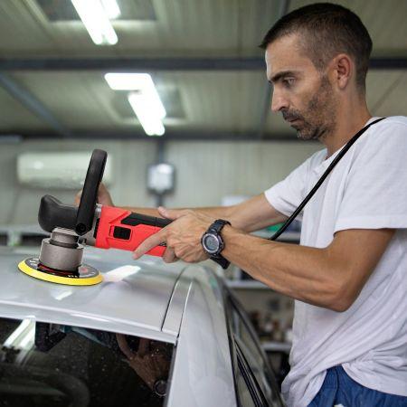 Costway 800W Machine à Polir Polissage pour Voitures 6 Vitesses Réglables 150mm