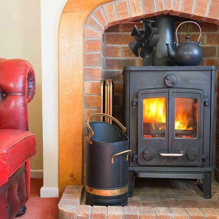 Ventilateur pour Poêle 4 pales Silencieux Éco Ventilateur chaleur pour poêles à bois et cheminées.
