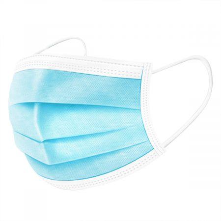 Costway 50 pcs Masque Respiratoire Jetable en Textile non Tissé Hypoallergénique à 3 Couches