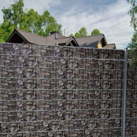Costway Brise-Vue en PVC 35mx19cm 450g/m² avec 20 Clips de Fixation pour Jardin Protection de la Vie Privée Pierre
