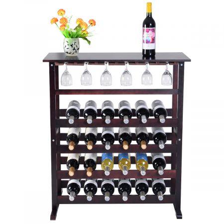 Étagère à vin Range bouteille Casier à vin porte-bouteille 24 bouteilles support