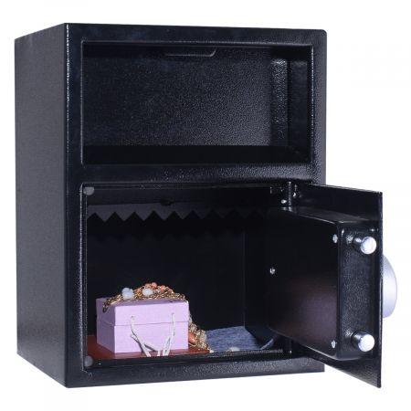Costway Coffre-Fort de Sécurité Électronique avec Clavier Numérique Electronique 34x30x45CM Noir