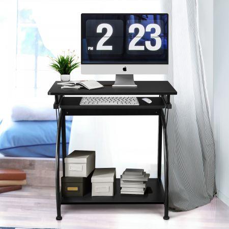 Costway Bureau Imformatique avec Clavier Coulissant 70 x 47 x 75 CM Table pour Ordinateur Pieds Réglable en Hauteur