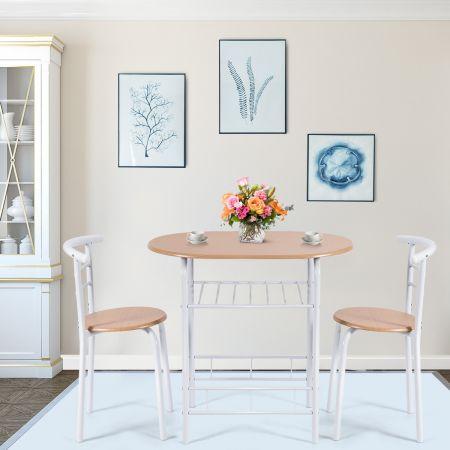 Table et Chaises de Cuisine Table et 2 Chaises Table et Chaises Salle à Manger Couleur du Bois MDF