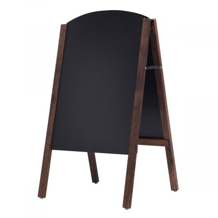 Costway Planche en Bois de Tirroir Ardoise Panneau tableau de Chaussée Tableau à Craie Chevalet 45*6*80cm