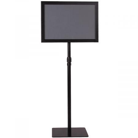 Présentoir sur Pied Porte Affiche sur Pied A3 Support Réglable 78,5-123 cm en Acier Inoxydable  Noir