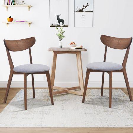 2 chaises de salle à manger noyer