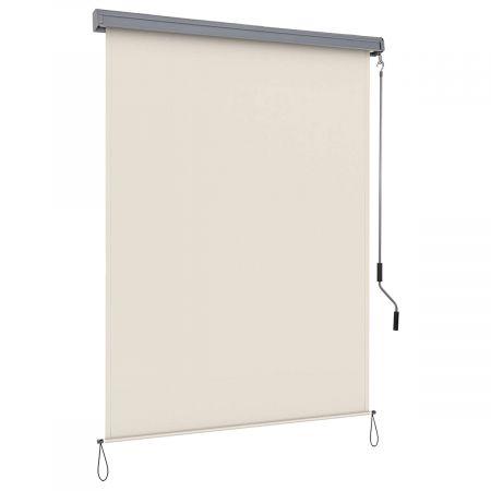 Costway Store Enrouleur Occultant Polyester 140x250CM Écran Imperméable pour Fenêtres et Portes Beige