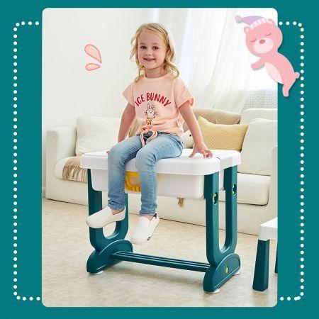 Costway Table Blocs Construction 5 en 1 avec 2 Boîtes de Rangement 1 Table et 1 Chaise Plus de 3 ans