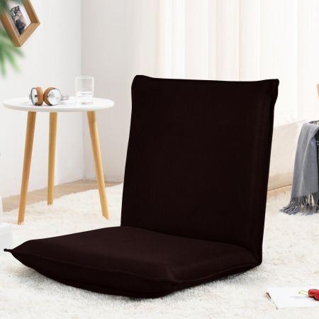 Costway Chaise de Sol Pliable Tatami Inclinable en 6 Position 44 x 54,5 x 53,5 CM Café