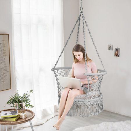 chaise suspendue façon hamac