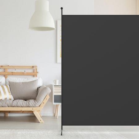 Costway Paravent Séparateur de Tissu 180x186cm Écran de Confidentialité Partition Noir