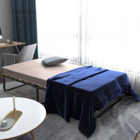 Costway Lit d'Appoint Pliant Invité 80x190 CM avec Matelas Luxueux de Mousse à Mémoire Confortable Cadre en Acier