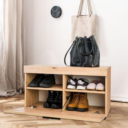 Costway Meuble à chaussures à 2 Niveaux Réglable en Hauteur Style Moderne 80 x 45 x 33,6 CM