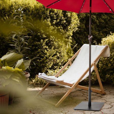 Costway Pied de Parasol φ50 CM pour Mât de Parasol φ35mm/φ38mm/φ48mm Idéal pour Jardin Terrasse Bord de Piscine et Véranda