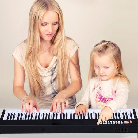 Costway 88 Touches Clavier de Piano Numérique Portable Enfants avec Fonction MIDI et Bluetooth