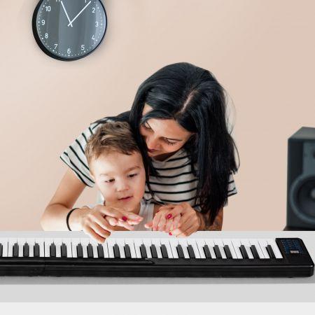 Costway Piano Numérique Portable 88 Touches avec Fonction Bluetooth Filtres Clavier Électronique Dynamiques Réglables