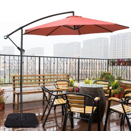 Costway Pieds de Parasols 4 Bases de Parasol Remplissable d'Eau ou de Sable Terrasse et Jardin