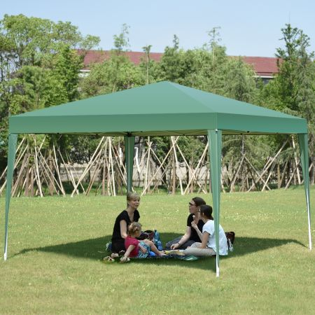 Costway Tente Réception Tonnelle de Jardin Pliant en Tube Acier et Tissu d'Oxford pour Extérieur 3 x 3 x 2,5 M