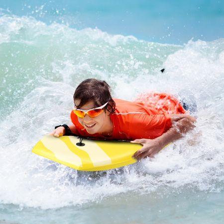 Costway Bodyboard Planche de Surf 105 x 51 x 6CM Motif Noix de Coco + Parasol Capacité de Charge 60-95 kg