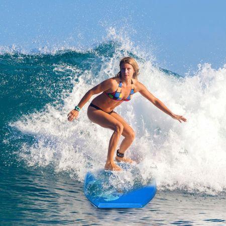 Costway Planche de Surf 41 Pouces en XPE et HDPE Bodyboard avec Corde de 90CM Bleu en Requin