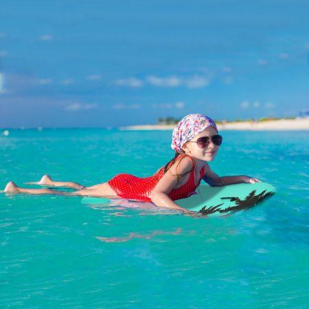 Costway Planche de Surf Bodyboard 41 Pouces avec Corde de 90CM 105 x 51 x 6CM Dessin de Cocotier