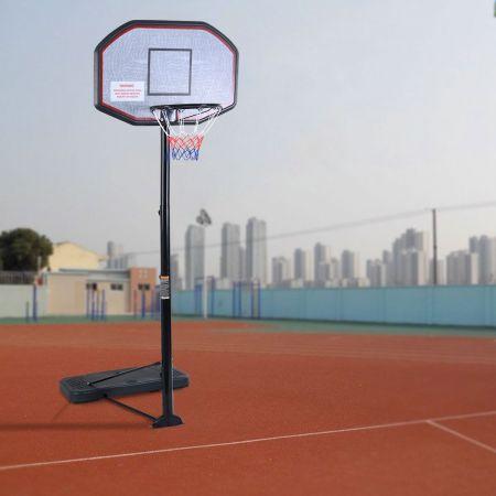 Costway Panier de Basket sur Pied Réglable Mobile avec Roues Hauteur 220-305 cm