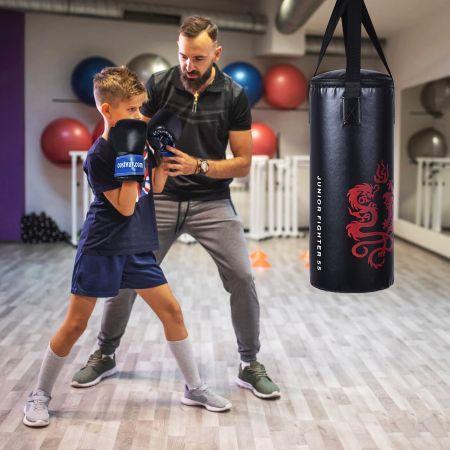 Costway Sac de Boxe Sac de Frappe Kickboxing pour Enfant avec 2 Gants Corde à Sauter Chaîne Suspension