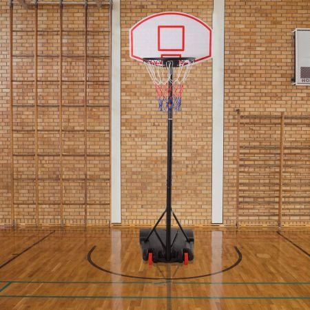Costway Panier de Basket-Ball Portable Réglable en Hauteur 1,785 m – 2,08 m avec Cadre en Acier Stable