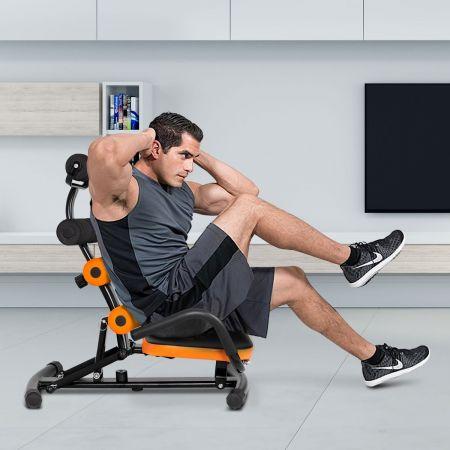 Costway Banc de Musculation avec Dossier Réglable en 3 Positions Angle 100-180° Charge 100KG